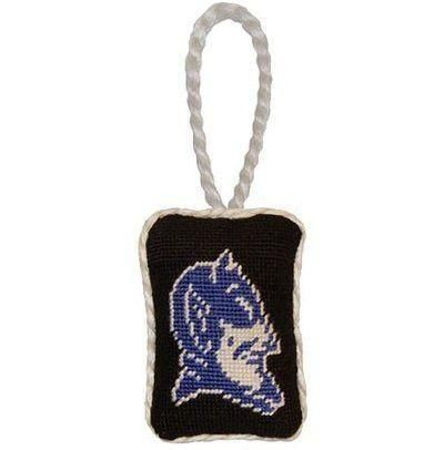 Christmas With The Duke 2020 Duke Needlepoint Christmas Ornament in Black by Smathers & Branson