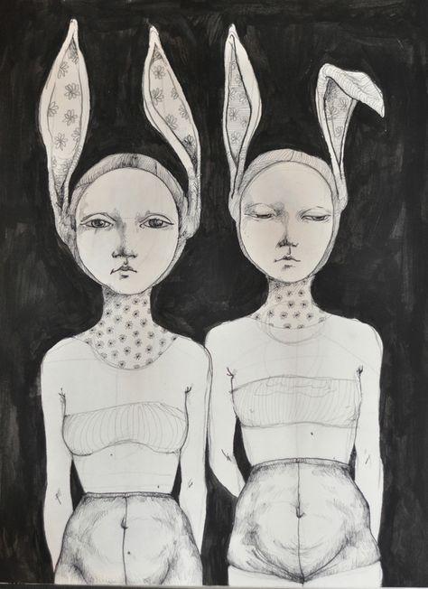 Sketchbook by Zina Nedelcheva, via Behance Pretty Art, Cute Art, Art Journal Inspiration, Art Inspo, Art Sketches, Art Drawings, Arte Peculiar, Arte Indie, Arte Dope
