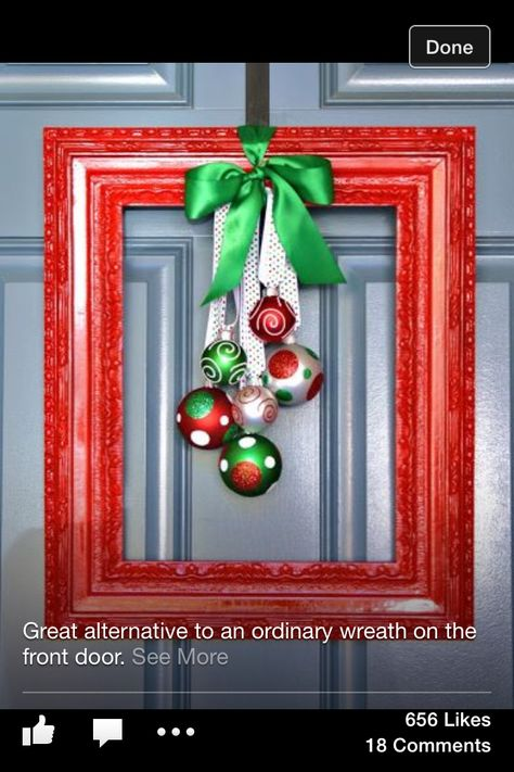 Christmas Frame A creative alternative to a wreath Would store