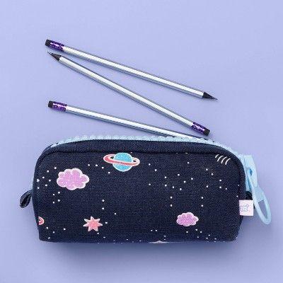 Navy and Pink Floral Medium Zipper Pouch Pencil Pouch Makeup Zipper Pouch Purse Zipper Pouch,
