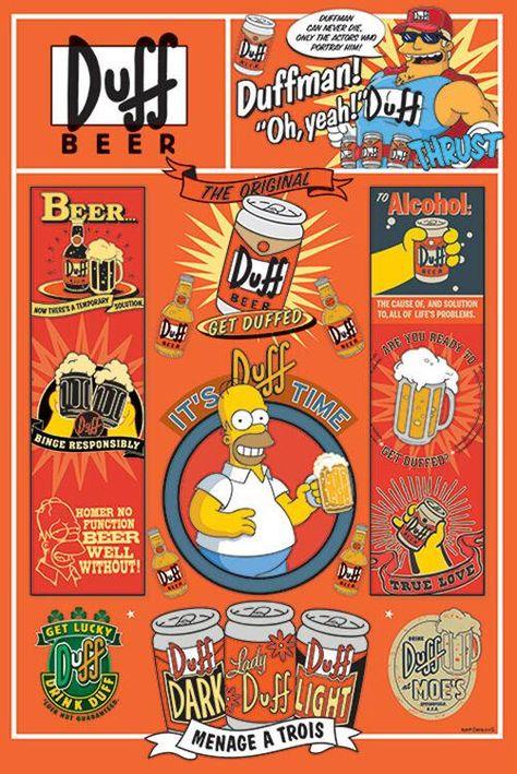 Simpsons - Duff Beer - Poster
