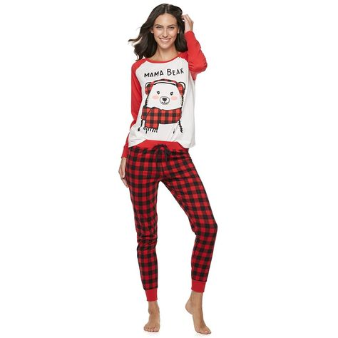 Women S Jammies For Your Families Cool Bear Top Bottoms Pajama