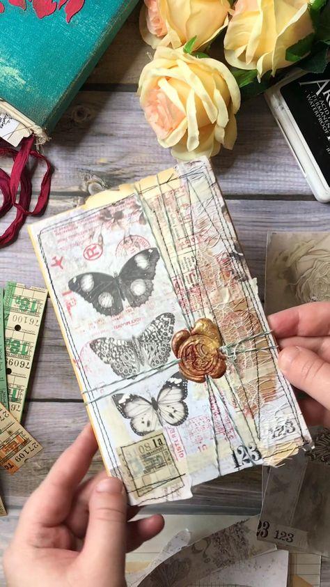 Collage for happy mail #junkjournal #craft #handmade #crafttutorial #vintageenvelope #collageart