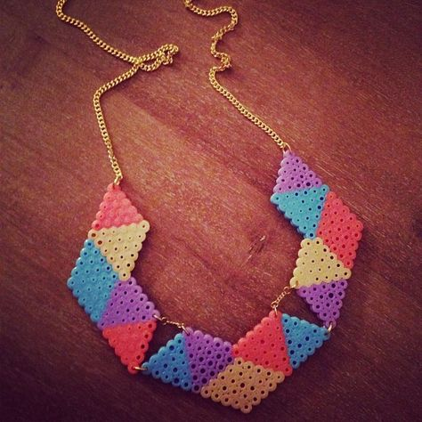 Necklace hama perler beads by mellechef