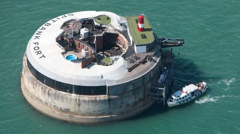 Another Zombie Apocalypse survival gear must have! Spitbank Fort - Luxury Floating Retreat   DudeIWantThat.com