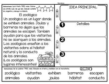 Textos Para La Comprension De Los Mas Pequenos Idea Principal Dual Language Classroom Reading Skills Bilingual Classroom