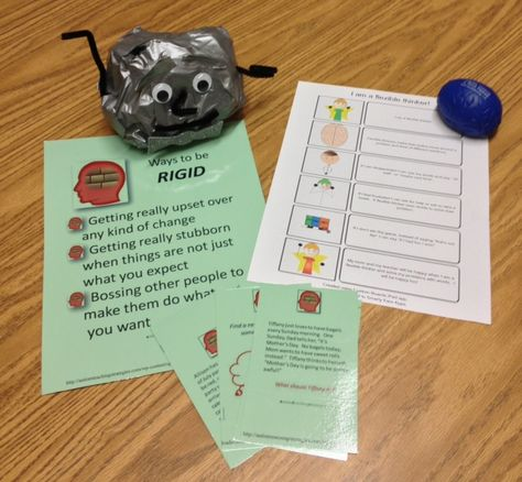 Rock brain! http://autismteachingstrategies.com/autism-strategies/flexibility-in-kids-with-asd-card-activity-to-teach-this-social-skill-to-children-on-the-autism-spectrum/