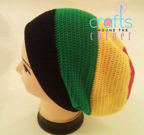 6994c5e78d4 Crochet Rasta Hat Pattern- Beanie - African - PDF - Tam - Dreadlocks ...