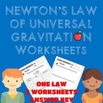 Newton S Law Of Universal Gravitation Worksheets With Images