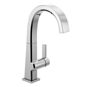 Delta Pivotal Single Handle Bar Faucet In Chrome 1993lf Bar
