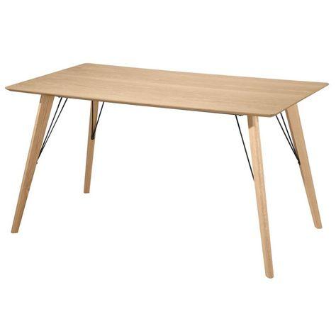 Table Rectangulaire Roa 140 Cm Bois Rendez Vous Deco La
