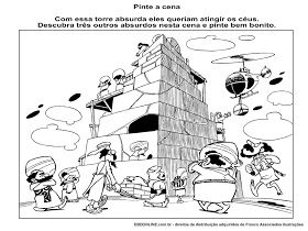 Historia Biblica A Torre De Babel Torre De Babel Colorir