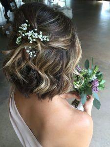 Bridesmaid Hairstyles For Short Hair Bridesmaids Hairstyles Hairstylesforwomen Haircuts Ha Formal Hairstyles For Short Hair Short Wedding Hair Half Up Hair