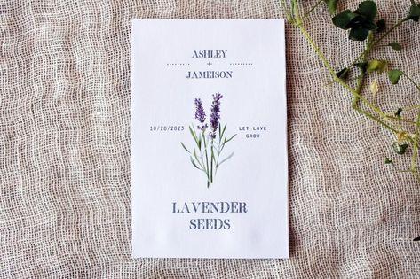 Lavender Seed Packet Envelopes Wedding Favors Bridal   Etsy