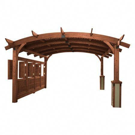Sonoma Arched Wood Pergola 16 X 16 Ft Image 1 Of 2 Pergolakits Outdoor Pergola Pergola Plans Wood Pergola
