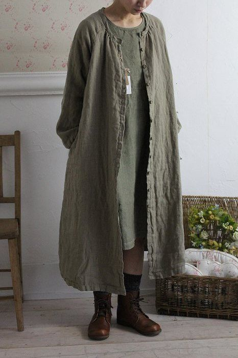 """LAGENLOOK LINEN OVERSIZED HOODED 2 POCKETS LONG JACKET**TAUPE**BUST UP TO 50/"""""""