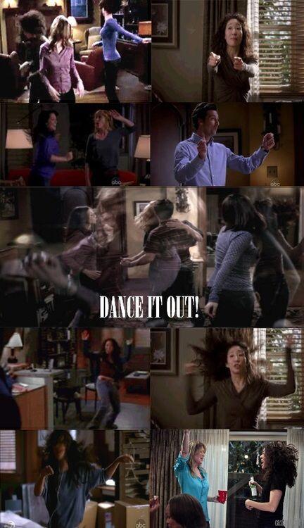 "Cristina Yang and Merdith Grey ""dance party"" Grey's Anatomy"