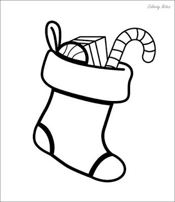 Easy Christmas Stocking Coloring Pages For Kids Easy Christmas Stockings Fun Christmas Crafts Coloring Pages