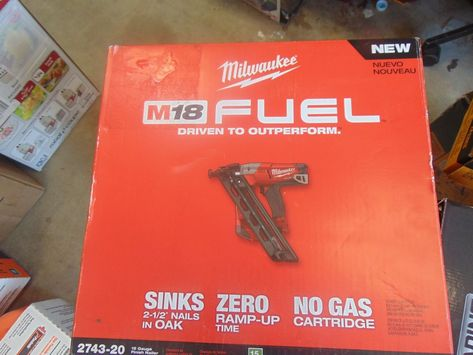 Nail And Staple Guns 122828 Milwaukee M18 Fuel 15 Gauge Finish Nailer 2743 20 Tool Only Nib Buy It Now Only Finish Nailer Milwaukee M18 Nailer