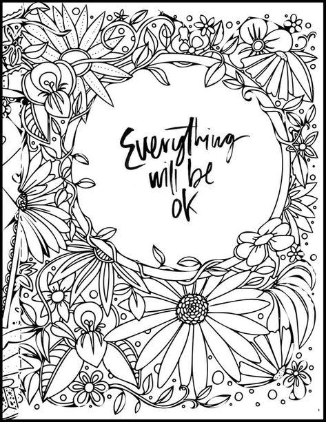 Zen Art Inspirational Everything Will Be Ok Home Decor Etsy