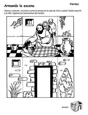 Jesus Resucita A La Hija De Jairo Bible Crafts Sunday School Coloring Pages Sunday School Activities