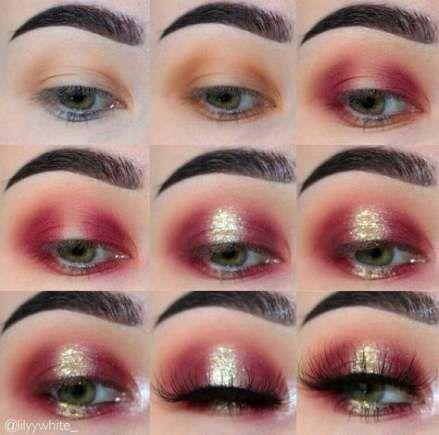 Makeup Gold Step By Step Eyeshadows 61 Ideas Eye Makeup Steps Red Eye Makeup Eye Makeup Tutorial