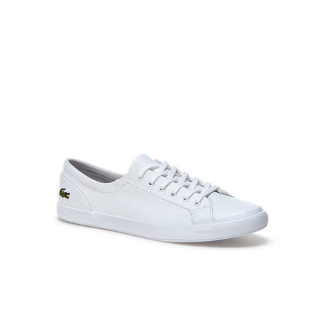 lacoste ladies white leather trainers
