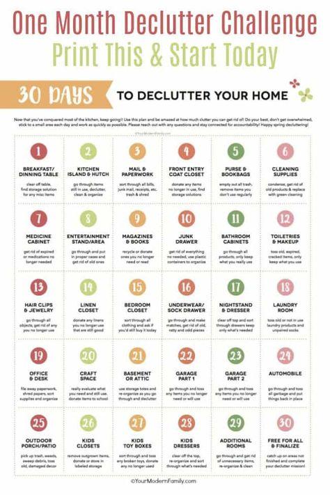 30 day declutter challenge!  #declutter  #decluttering #declutteryourhome   #declutteringtips #decluttermyhouse #30daychallenge #30daydeclutterchallenge #unclutteredsimplicity  #organization #organize #cleaning #cleaningtips #chores #choresforkids