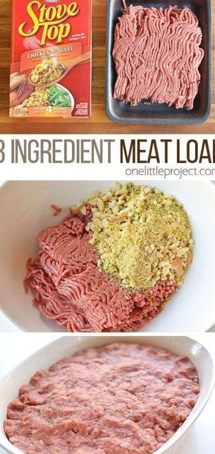 This 3 Ingredient Meat Loaf Is The Easiest Recipe Ever It S Quick And Easy To Make And It Tastes Delicious Who Would Have Thought In 2020 Recipes Meat Cooking Dinner