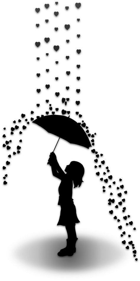 Regen Der Liebe Silhouette Portrait Der Liebe Portrait Regen Silhouette Gorsel Sanatlar Cizim Cizimler