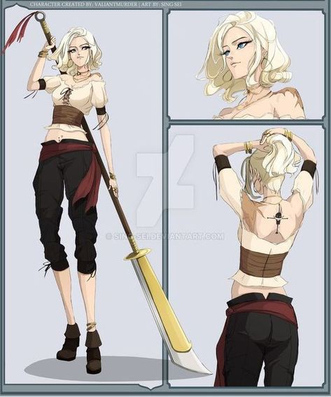 Read Fiche personnage : Olympe Newgate from the story La pirate solitaire et le chirurgien de la mort by (Olympe. Naruto Oc Characters, Girls Characters, Dnd Characters, Fantasy Characters, Female Characters, Fictional Characters, Fantasy Character Design, Character Design Inspiration, Character Concept