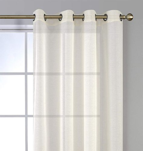 Miuco 2 Panels White Curtains Grommet