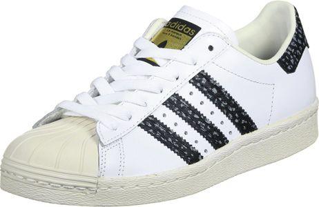 adidas Superstar 80s chaussures blanc noir vert   Chaussures