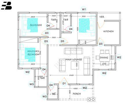 3 Bedroom Bungalow Plan Market 3 Bedroom Bungalow Bungalow Floor Plans Three Bedroom House Plan