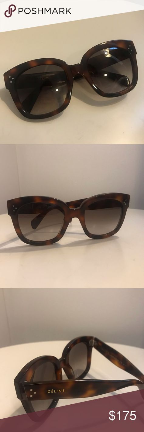 9ef056a90f1 Céline New Audrey Sunglasses in Dark Havana Céline s best selling « New  Audrey » sunglasses.