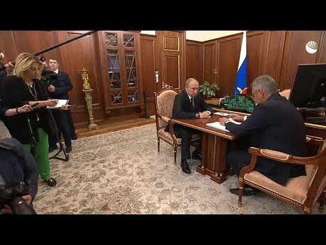 Встреча Владимира Путина и Сергея Шойгу в связи с гибелью 14 моряков - YouTube