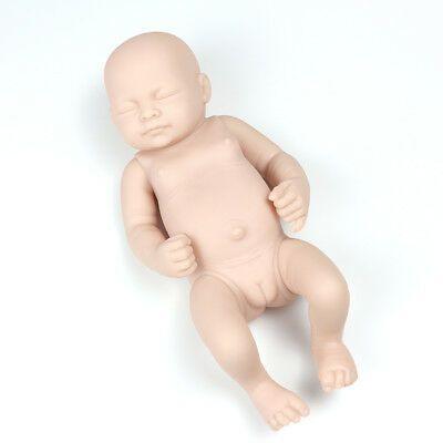 "10/"" Unpainted Reborn Doll Realistic Baby Girl Vinyl Silicone DIY Blank Doll Mold"