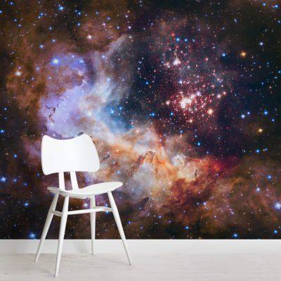 Westerlund Cluster Space Wallpaper Mural Murals Wallpaper Purple Galaxy Wallpaper Outer Space Wallpaper Mural