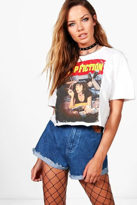 4d9546202c8 Boohoo Amber Pulp Fiction Licence Crop Top White Size S LF180 OO 24 #fashion  #clothing #shoes #accessories #womensclothing #tops (ebay link) | Tops in  2019 ...