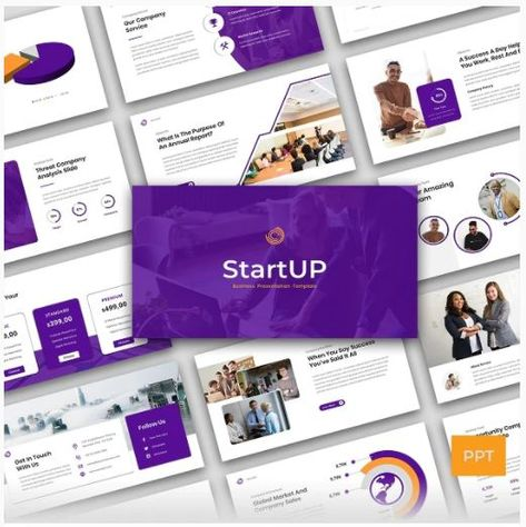 Start Up - Company Business Presentation Powerpoint Template