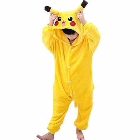 Onesie Kids Children Pajamas Boys Girls Pijama Pikachu Anime