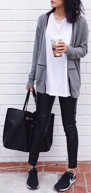 Minimalist. Casual day wear for running errands