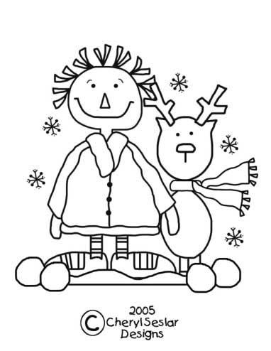 Snowball Pals Christmas Annie Coloring Page Coloring Sheets