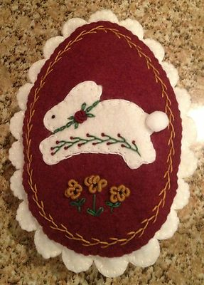 Wool Felt Easter Egg Bowl Filler