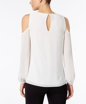 e30283f5367a5b Michael Michael Kors Embellished Cold-Shoulder Top - White XS