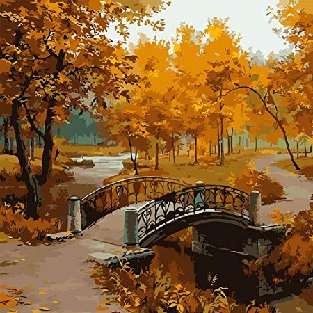 Fenta Wall Decoration Diy Oil Painting Maple Nature Scenery Drawing Watercolor Scenery Scenery Paintings Oil Painting Pictures
