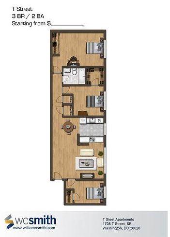 Best Floor Plans Images On Pinterest Tiny House Plans - 3 bedroom apartments washington dc