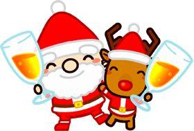 サンタさんとトナカイのイラスト 12月 季節 素材のプチッチ