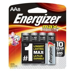 Max Alkaline Aa Battery 8 Pack Energizer Battery Energizer Alkaline Battery