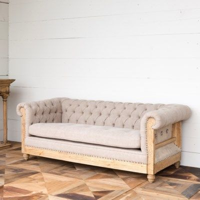 Hillcrest Tufted Chesterfield Sofa Painted Fox Home Tufted Sofa Linen Sofa Tufted Chesterfield Sofa